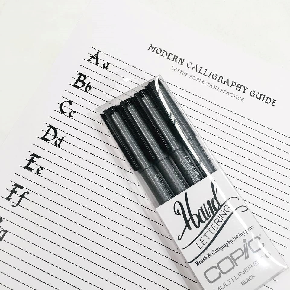 Modern Brush Lettering Guide Worksheet