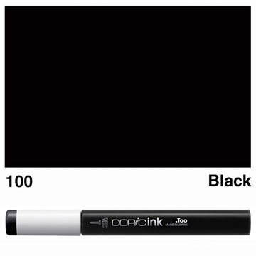 Picture of Copic Ink 100 - Black 12ml