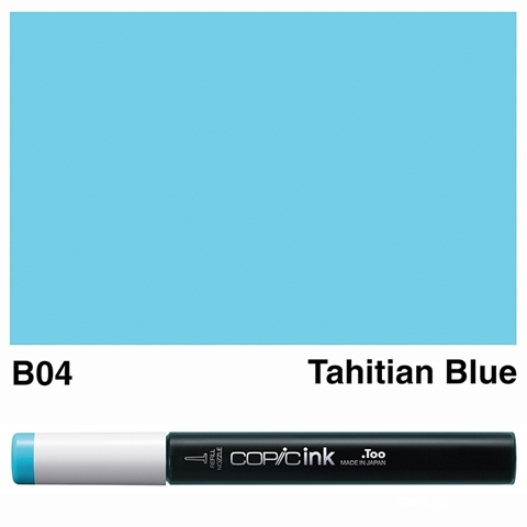 Picture of Copic Ink B04 - Tahitian Blue 12ml