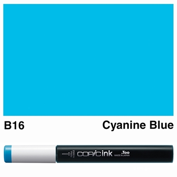 Picture of Copic Ink B16 - Cyanine Blue 12ml