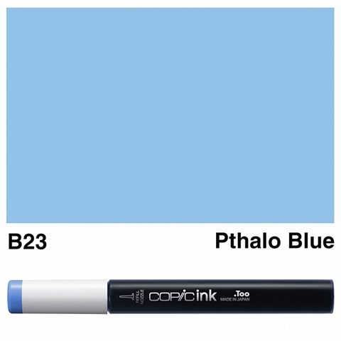 Picture of Copic Ink B23 - Pthalo Blue 12ml