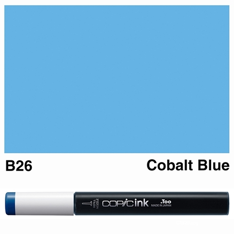 Picture of Copic Ink B26 - Cobalt Blue 12ml