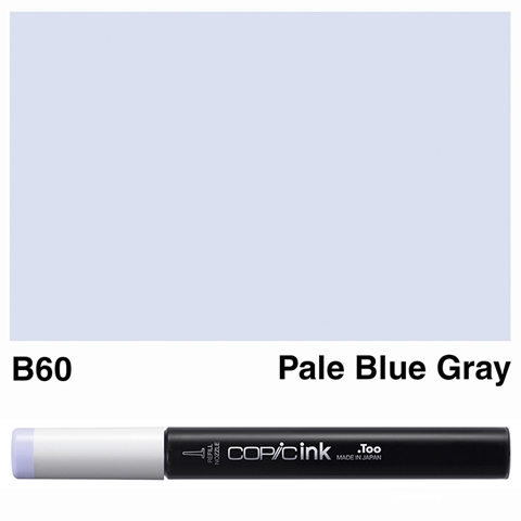 Picture of Copic Ink B60 - Pale Blue Gray 12ml