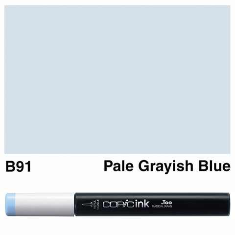 Picture of Copic Ink B91 - Pale Grayish Blue 12ml