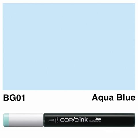 Picture of Copic Ink BG01 - Aqua Blue 12ml