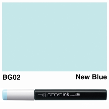 Picture of Copic Ink BG02 - New Blue 12ml