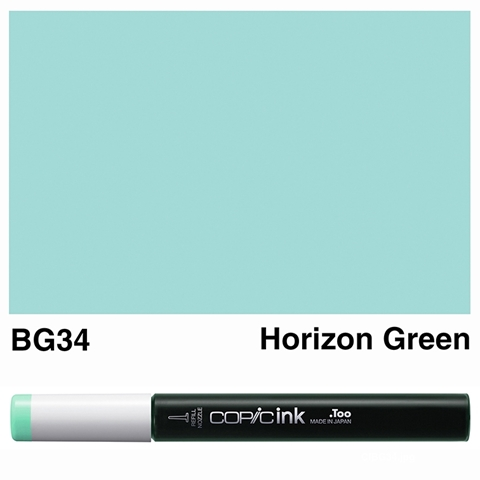 Picture of Copic Ink BG34 - Horizon Green 12ml