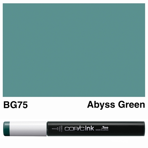 Picture of Copic Ink BG75 - Abyss Green 12ml