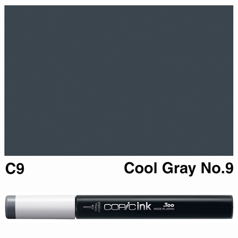 Picture of Copic Ink C9 - Cool Gray No.9 12ml