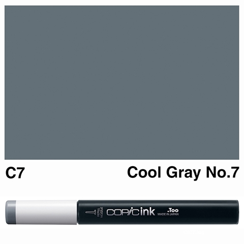 Picture of Copic Ink C7 - Cool Gray No.7 12ml