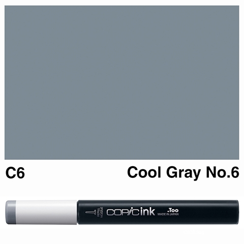 Picture of Copic Ink C6 - Cool Gray No.6 12ml