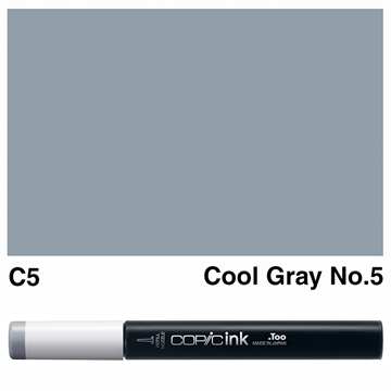 Picture of Copic Ink C5 - Cool Gray No.5 12ml