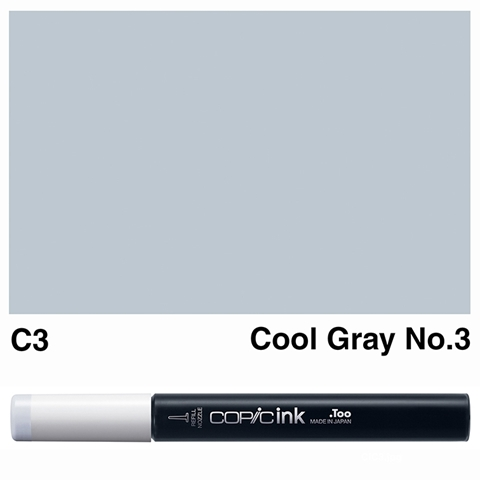Picture of Copic Ink C3 - Cool Gray No.3 12ml