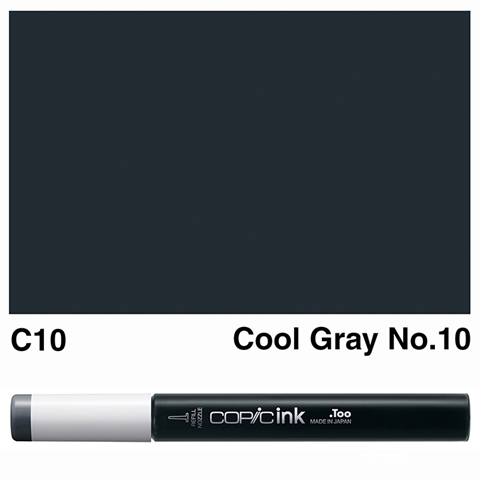 Picture of Copic Ink C10 - Cool Gray No.10 12ml