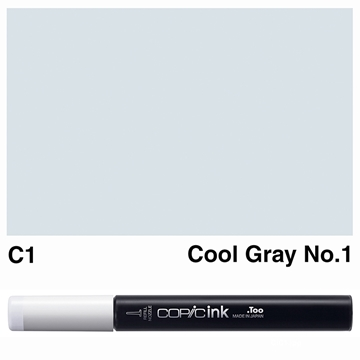 Picture of Copic Ink C1 - Cool Gray No.1 12ml