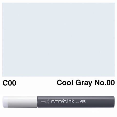 Picture of Copic Ink C00 - Cool Gray No. 00 12ml