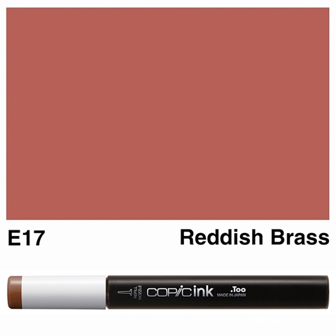 Picture of Copic Ink E17 - Reddish Brass 12ml