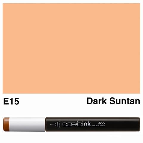 Picture of Copic Ink E15 - Dark Suntan 12ml