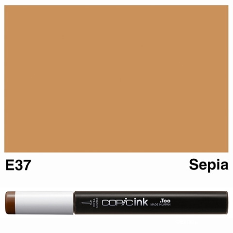 Picture of Copic Ink E37 - Sepia 12ml