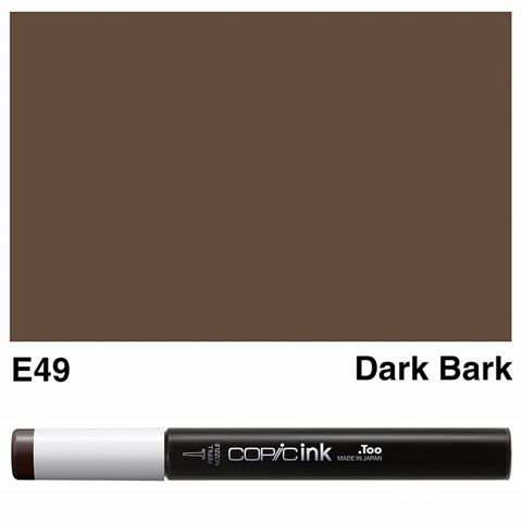 Picture of Copic Ink E49 - Dark Bark 12ml