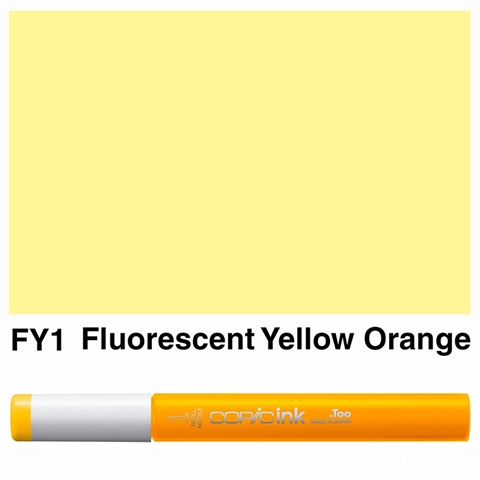 Picture of Copic Ink FY1 - Fluorescent Yellow Orange 12ml