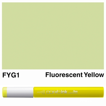 Picture of Copic Ink FYG1 - Fluorescent Yellow 12ml