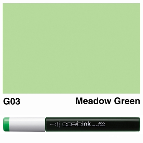 Picture of Copic Ink G03 - Meadow Green 12ml