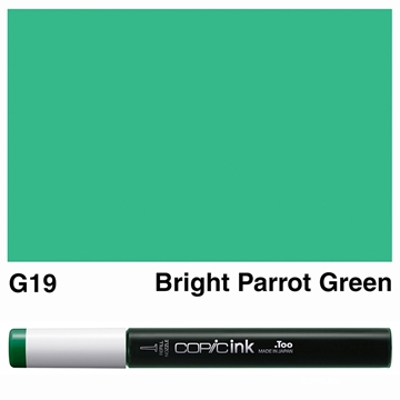 Picture of Copic Ink G19 - Bright Parrot Green 12ml