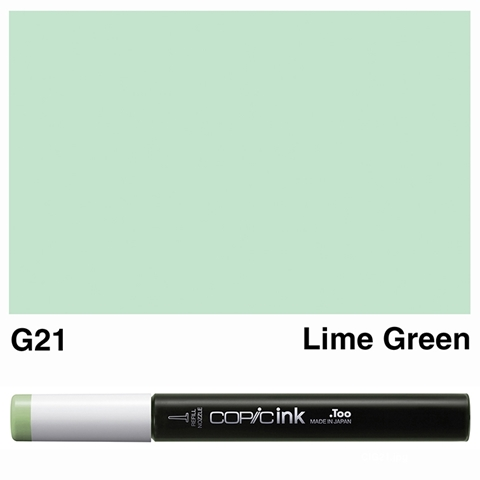 Picture of Copic Ink G21 - Lime Green 12ml