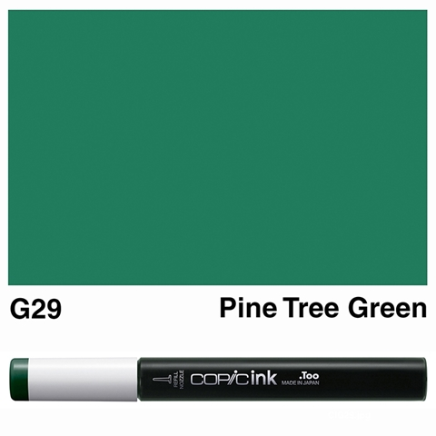 Picture of Copic Ink G29 - Pine Tree Green 12ml