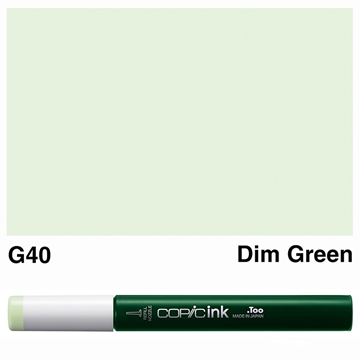 Picture of Copic Ink G40 - Dim Green 12ml
