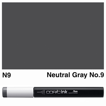 Picture of Copic Ink N9 - Neutral Gray No.9 12ml