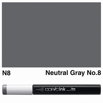 Picture of Copic Ink N8 - Neutral Gray No.8 12ml