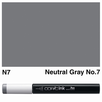 Picture of Copic Ink N7 - Neutral Gray No.7 12ml
