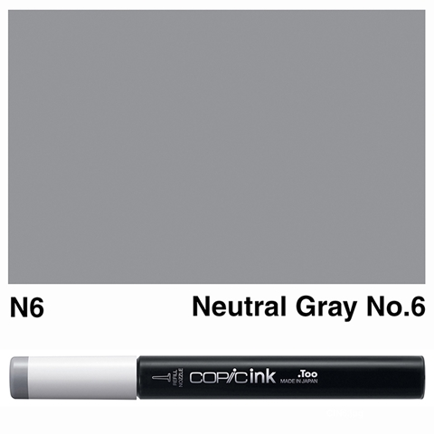 Picture of Copic Ink N6 - Neutral Gray No.6 12ml