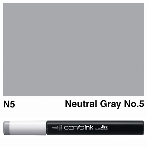 Picture of Copic Ink N5 - Neutral Gray No.5 12ml