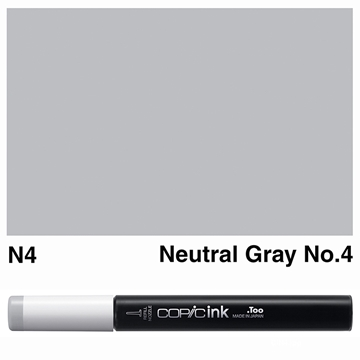 Picture of Copic Ink N4 - Neutral Gray No.4 12ml