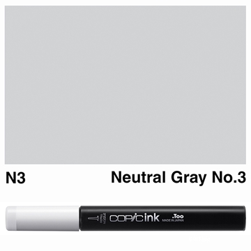 Picture of Copic Ink N3 - Neutral Gray No.3 12ml