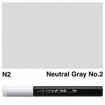 Picture of Copic Ink N2 - Neutral Gray No.2 12ml