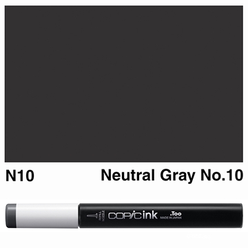Picture of Copic Ink N10 - Neutral Gray No.10 12ml