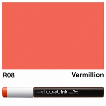 Picture of Copic Ink R08 - Vermillion 12ml