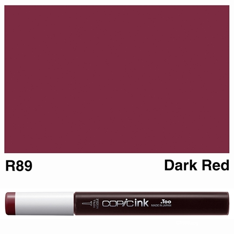 Picture of Copic Ink R89 - Dark Red 12ml