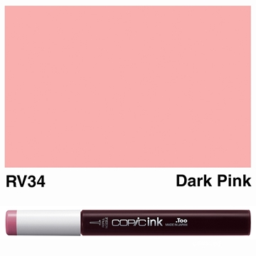 Picture of Copic Ink RV34 - Dark Pink 12ml