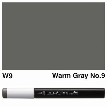 Picture of Copic Ink W9 - Warm Gray No.9 12ml