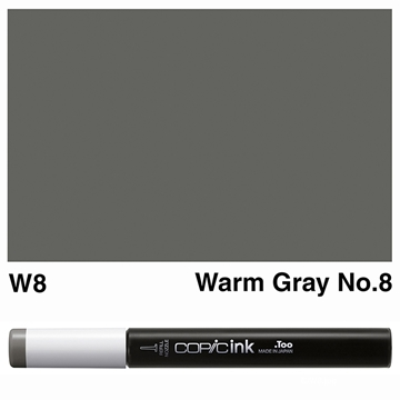 Picture of Copic Ink W8 - Warm Gray No.8 12ml