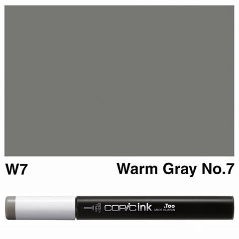 Picture of Copic Ink W7 - Warm Gray No.7 12ml