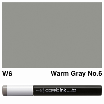 Picture of Copic Ink W6 - Warm Gray No.6 12ml