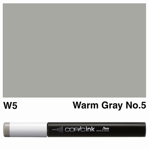 Picture of Copic Ink W5 - Warm Gray No.5 12ml
