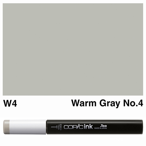 Picture of Copic Ink W4 - Warm Gray No.4 12ml