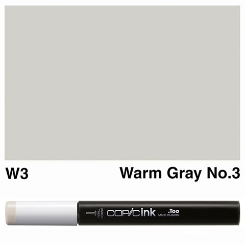 Picture of Copic Ink W3 - Warm Gray No.3 12ml